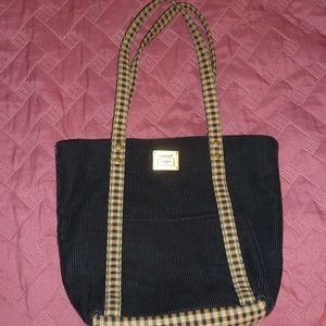 LONGABERGER Small Tote Bag, Black, EUC